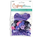 Пуговицы набор Crafting with buttons Purple